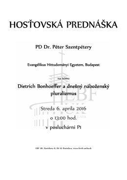 Hostovska prednaska Peter Szentpetery 06042016