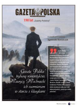 """""""Gazeta Polska"""" trybuną romantyków, a Maurycy Mochnacki ich"""