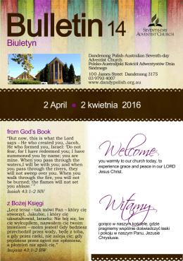 Biuletyn 2 April 2 kwietnia 2016