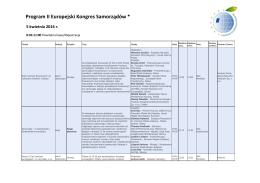 Program II Europejski Kongres Samorządów