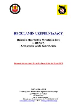 Regulamin II rundy RMW