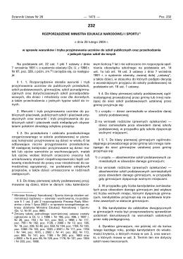 Rozp. MENIS z dnia 20 lutego 2004 r w sprawie warunków i trybu