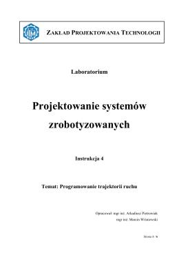 Instrukcja 4 - Zakład Projektowania Technologii
