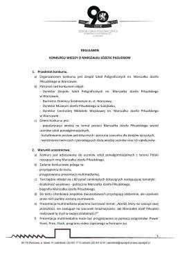 Regulamin Konkursu - Zespół Szkół Poligraficznych im. Marszałka