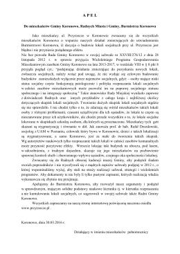 APEL - Osiedle Przyrzecze w Koronowie