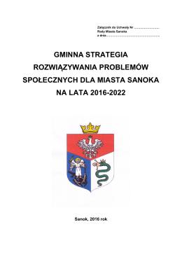 """Projekt """"Gminnej Strategii Rozwiązywania"""