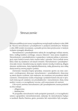 Streszczenie - Wydawnictwo Naukowe FREL