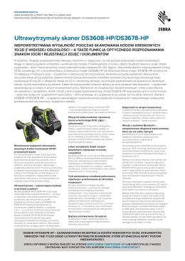 Ultrawytrzymały skaner DS3608-HP/DS3678-HP