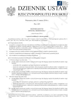 świadectwo - Dziennik Ustaw