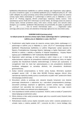Spółdzielnia Mieszkaniowa Spółdzielca w Lublinie działając jako