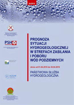 Pobierz Prognozę Prognozę - Państwowa Służba Hydrogeologiczna