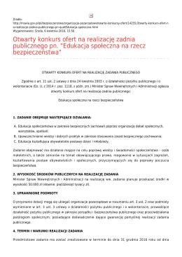 Generuj PDF - Ministerstwo Spraw Wewnętrznych i Administracji