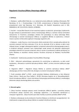 Regulamin Vouchera/Biletu Otwartego eBilet.pl
