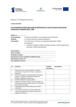 Lista sprawdzająca do oceny formalnej