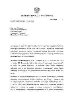 Pismo do jST subwencja na rok 2016 (pdf przeszukiwalny)