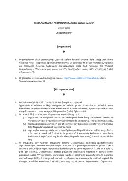 Regulamin i zasady konkursu