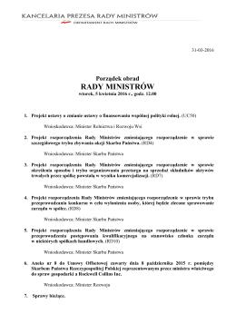 5 kwietnia 2016 r. - BIP Rady Ministrów i Kancelarii Prezesa Rady