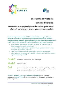Agenda - Polska Zielona Sieć