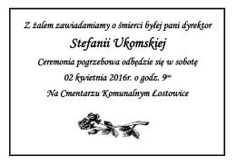 Stefanii Ukomskiej