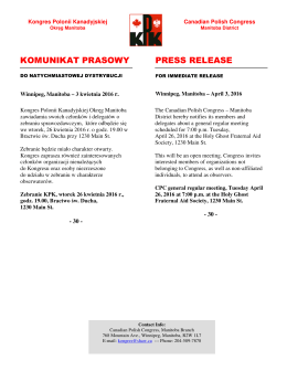 komunikat prasowy press release