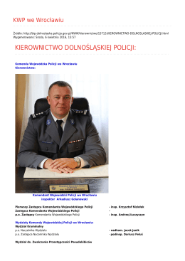 Generuj PDF - KWP we Wrocławiu