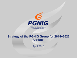 Strategy of the PGNiG Group for 2014−2022 Update