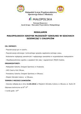 regulamin SP - Międzyszkolny Ośrodek Sportowy Kraków Wschód