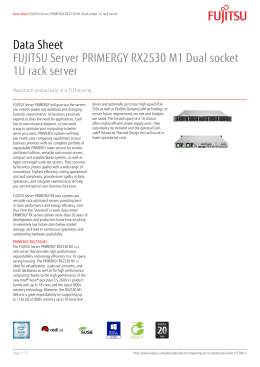 Data Sheet FUJITSU Server PRIMERGY RX2530 M1 Dual socket