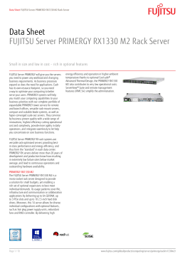 Data Sheet FUJITSU Server PRIMERGY RX1330 M2 Rack Server