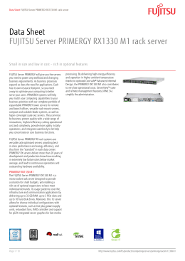 Data Sheet FUJITSU Server PRIMERGY RX1330 M1 rack server