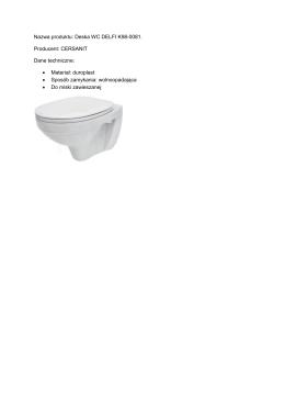 Nazwa produktu: Deska WC DELFI K98