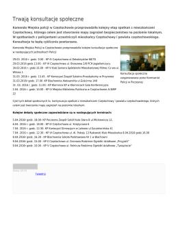 Trwają konsultacje społeczne - Komenda Miejska Policji w
