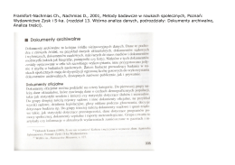 Frankfort-Nachmias Ch., Nachmias D., 2001, Metody badawcze w