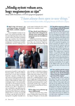 Interjú Szöllősi Krisztiánnal, a LÓTUSZ cég ügyvezető igazgatójával