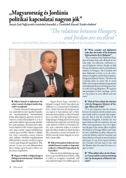 Interjú Zaid Naffa jordán tiszteletbeli konzullal, a Tiszteletbeli