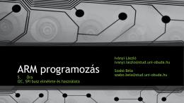 I2C, SPI - ARM programozás