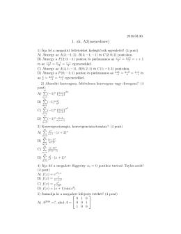 1. zh, A2(menedzser)