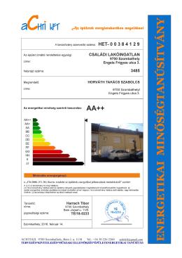 Energetikai minőségtanúsítvány