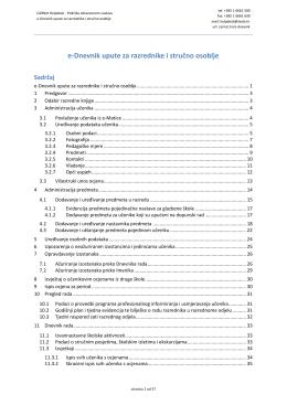 e-Dnevnik upute za razrednike i stručno osoblje