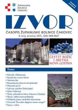 Izvor br.8 – Prosinac 2015. - Županijska bolnica Čakovec