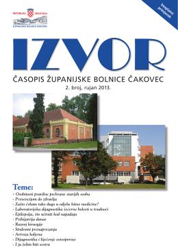 Izvor br.2 – Rujan 2013. - Županijska bolnica Čakovec