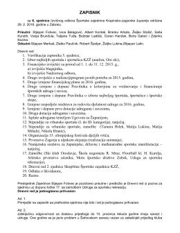 Zapisnik 6. sjednice - Sport-kzz