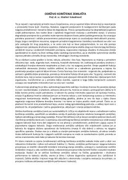 Održivo korištenje zemljišta (LUS)