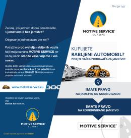 Prezentacijski letak - motive service slovenija
