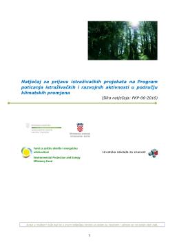 tekst natječaja - Hrvatska zaklada za znanost