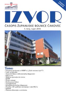 Izvor br.5 – Rujan 2014. - Županijska bolnica Čakovec