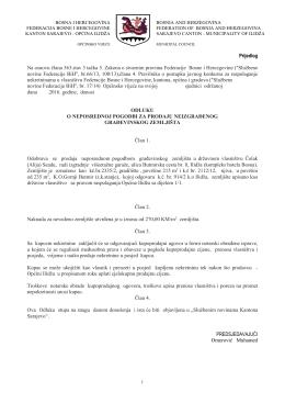 Prijedlog Na osnovu člana 363.stav 3 tačka 5