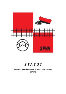 STATUT SPVH 31-3-2016 - Sindikat prometnika vlakova Hrvatske