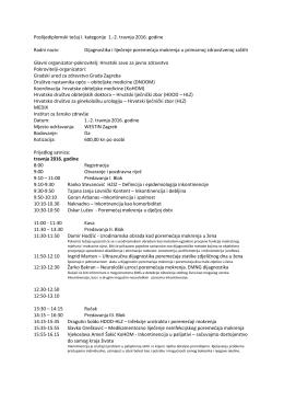 Poslijediplomski tečaj I. kategorije 1.