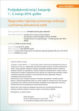 Dijagnostika i liječenje poremećaja mokrenja u primarnoj